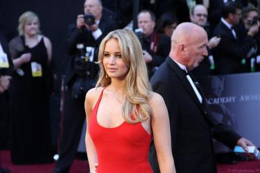 Jennifer Lawrence in Calvin Klein, 83ste Academy Awards of Oscars, 2012. Foto: Red Carpet Report.
