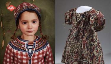 Linker afbeelding is een foto van de Oilily stijlgids 2014, rechts een sitsen kinderjakje.