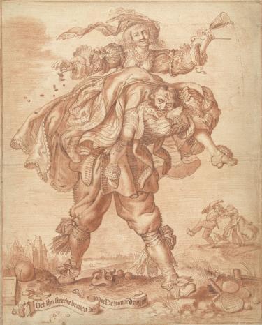 A.P. v.d. Venne, 'Het zijn sterke benen die de weelde kunnen dragen', 1600-1635, RP-T-00-758