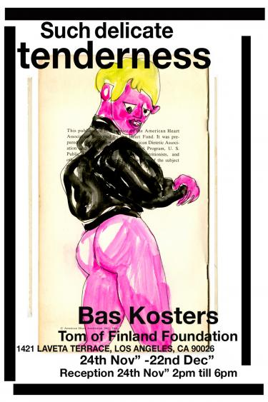 Bas Kosters, Invite Such Delicate Tenderness, 2019, Bas Kosters, Tom of Finland Foundation Los Angeles, Bron: Bas Kosters.