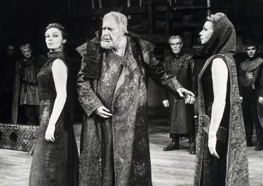 Albert van Dalsum als King Lear (fotograaf onbekend).