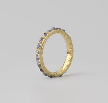 Anoniem (Noordelijke Nederlanden), Ring met tafeldiamanten, ca. 1620-1650. Collectie Rijksmuseum (BK-2018-139).