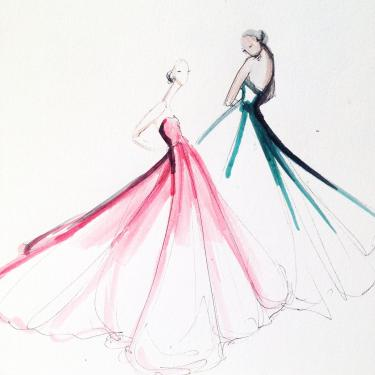 Jeanette Getrost, Mode Illustratie, Bron: website Meredith Corning.; Modemuze, Americana, Los Angeles, LA, mode illustraties, mode illustrator, mode tekening, mode fotografie, schilderkunst, geschiedenis mode illustraties