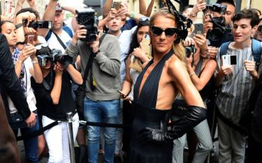 Céline Dion in Schiaparelli, Paris Fashion Week, 2019, foto: © footwearnews