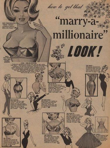 """How to get that """"marry-a-millionaire"""" LOOK!, ca. 1950."""