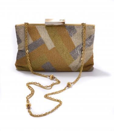 Handtas van metalen kralen, Pierre Cardin, 1970-1980, Frankrijk.