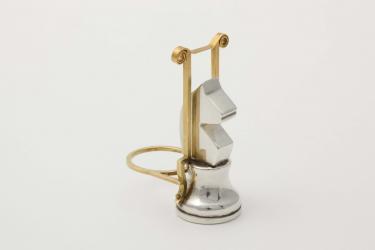 Schaak 2, Ted Noten, ring, zilver, goud, 1992 (Collectie Museum Arnhem).