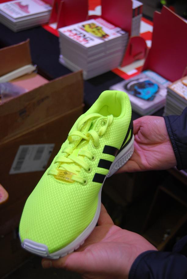 Adidas ZX-Flux, hybrid schoen met retro zool en upper uit 1 stuk van Daniel op Sneakerness.