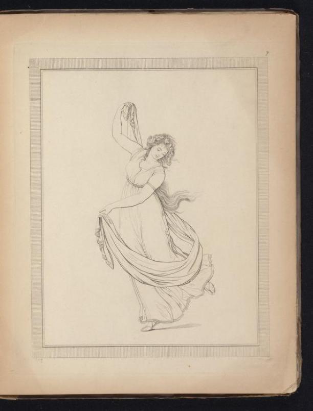 Afb. 1. Friedrich Rehberg, pose van Emma Hamilton, 1794.
