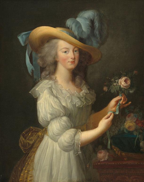 Blog Modemuze Fleur Dingen. Afb. 3. Anoniem naar Elisabeth-Louise Vigée Le Brun, Marie-Antoinette, na 1873, olie op doek, 92,7 x 73,1 cm, National Gallery of Art, Washington. © National Gallery of Art, Washington.