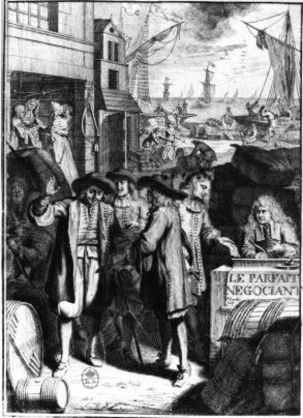 Blog Modemuze Sjoukje Telleman Symposium Zijde Textielcommissie. Jacques Savary Le Parfait Negociant frontiscipe 1675