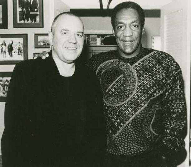 Koos van den Akker en Bill Cosby, begin jaren 90. Bron: Modekern/Gelders Archief.