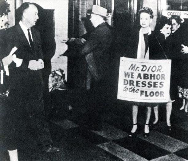 Protesten tegen Diors New Look.